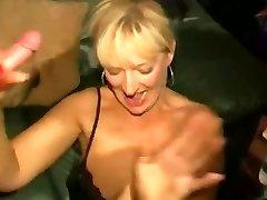Grubby English super-bitch - Bukkake party 04