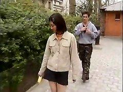 Korean student fucks western chisels -1