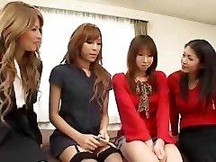 Pretty Asian shemales intercourse