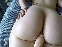 Massive booty white girl