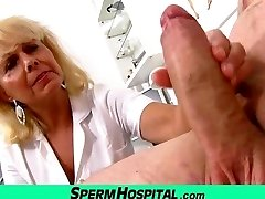 Unholy gal doctor Koko cfnm hospital handjob