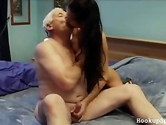 Aged Man Knobs A Tight Body Chick