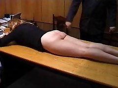 Naughty Secretary is Penalized with a Trussing