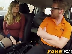 Bootylicious UK skank Madison Stuart plumbed at driving school car