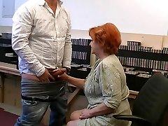 Grandma gives a gummy sucky-sucky