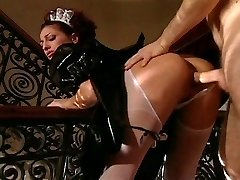 Rich fellow has to fuck sexy maid first-ever
