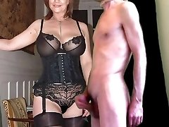 cuckold jizz for mature huge-boobed wife in stockings