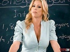 Fucking His Hot Blonde Math Schoolteacher