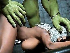 3D medicinska sestra, zahvaćenog Frankenstein!