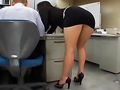 Japanese office girl gets pounded by two