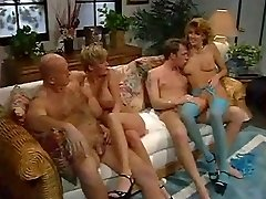Gonzo group orgy with mature whores.