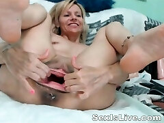 Mature fisting anal and twat