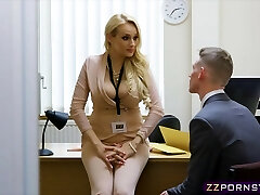 Mind-blowing busty teacher fucked hard in her office