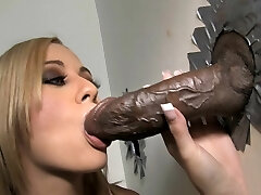 Mae Meyers Takes Big Black Cock - Gloryhole