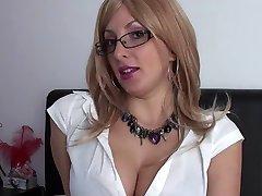 Secretary interwiev - Jerking Off Instruction