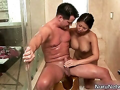 Nasty extreme horny chinese babe blows