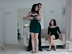 British wife Lucia Love enjoys eyeing how her husband nails curvy busty hooker