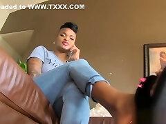 Ebony Foot Slave