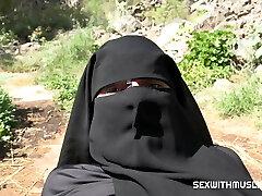 Spunk on her niqab