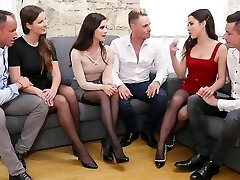 Trio pairs of Swingers gave each other a soiree with groupsex