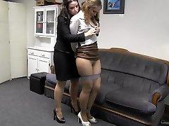 Girl boss with secretary