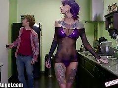 BurningAngel Emo Stripper gets Pussy Pounding