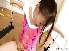 Sexy asian gymnast gets oral sex