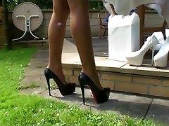 Здоровая - Тамиа Открытый Гребаные каблуки