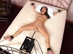 Charlie Laine Tied To Bed And Fucked By Machine