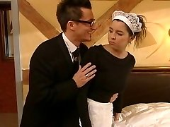 German maid fucked by two guys