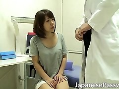 Horny cosplay doctor seduces and bangs hot Japanese chick