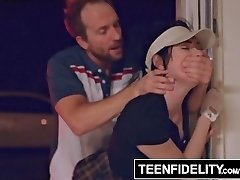 TEENFIDELITY - Aria Alexander Pays for Golf Lessons With Teen Pussy