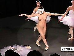 Untertitelt CMNF japanischen ballerina Erwägung Streifen nackt
