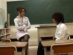 Asyalı Öğretmen Öğrenci Kızı Tarafından Baştan,Blondelover Tarafından