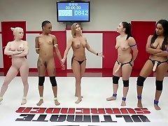 Tag-Team Erotic Lesbian Wrestling
