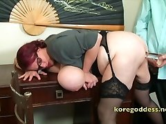A secretary gets her ass well fucked