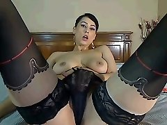Chaturbate Cam Girl Plays with Jugs and Pussy
