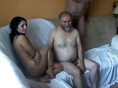 18y Teen drilled by 5 Old Men