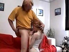 STP4 Ginger Teenager Gets Her Older Guy Stiff !