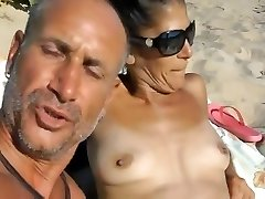 Just a day on the naked beach with lots of fun