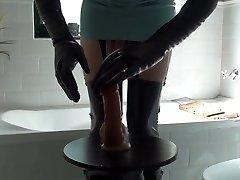 Latex Nurse & Anal Fuck In Hunter Condom Boots