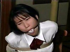 school girl restrain bondage D51