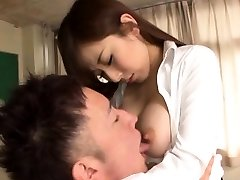 Horny beauty Erika Kitagawa with huge breasts in erotic scenery