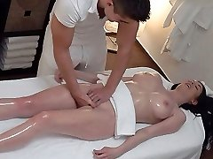 Unexpected Tits and Pussy Massage