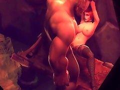 Horny Warcraft damsels enjoying hard pussy pounding