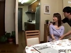 Japanese mom get screwed after husband leaves for work