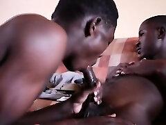 Black Twink Sucks Cock