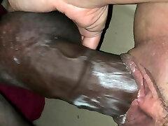 She creams on bbc with cum-shot finish