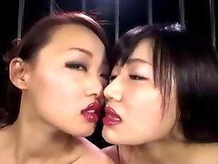 Japanese Lesbo Lipstick Kiss II