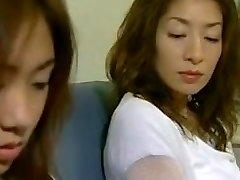 Two Asian Lesbians Seduce a Str8 Hotty